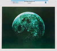NASA: Apollo - Moon View, July 16-24, 1969 Color Lithograph, Directly From The Armstrong Family Collection™, CAG Certifi...
