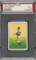 Baseball Cards:Singles (Pre-1930), 1911-14 D304 Brunners Bread Johnny Evers (Chicago) PSA EX+ 5.5 - Pop Two, Two Higher. ...