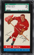 Hockey Cards:Singles (Pre-1960), 1954 Topps Red Kelly #5 SGC 96 Mint 9 - Pop One, None High...