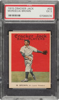Baseball Cards:Singles (Pre-1930), 1915 Cracker Jack Mordecai Brown #32 PSA EX 5....