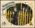 "Movie Posters:Comedy, Our Hospitality (Metro, 1923). Fine/Very Fine. Lobby Card (11"" X 14"").. ..."