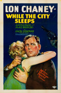 "Movie Posters:Crime, While the City Sleeps (MGM, 1928). Folded, Very Fine. One Sheet (27"" X 41"").. ..."
