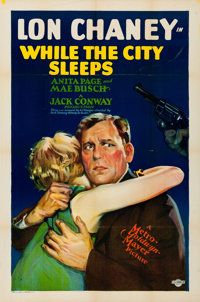 "While the City Sleeps (MGM, 1928). Folded, Very Fine. One Sheet (27"" X 41"")"