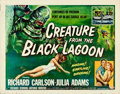 "Movie Posters:Science Fiction, Creature from the Black Lagoon (Universal International, 1954). Folded, Fine+. Half Sheet (22"" X 28"") Style A, Reynold Brown..."