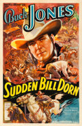 "Movie Posters:Western, Sudden Bill Dorn (Universal, 1937). Very Fine- on Linen. One Sheet (27.25"" X 41"").. ..."