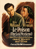 """Movie Posters:Academy Award Winners, The Lost Weekend (Paramount, 1946). Fine/Very Fine on Linen. French Grande (46"""" X 62.25"""") Boris Grinsson Artwork.. ..."""