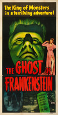 "Movie Posters:Horror, The Ghost of Frankenstein (Realart, R-1948). Very Fine- on Linen. Three Sheet (41"" X 80.5"". ..."