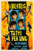 "Movie Posters:Rock and Roll, A Hard Day's Night (United Artists, 1964). Very Fine- on Linen. Italian 4 - Fogli (55"" X 77.75"").. ..."