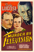 "Movie Posters:Horror, Murder By Television (Imperial-Cameo, 1935). Fine/Very Fine on Linen. One Sheet (27"" X 41"").. ..."