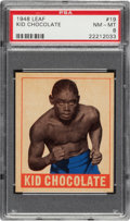 Boxing Cards:General, 1948 Leaf Kid Chocolate #19 PSA NM-MT 8 - None Higher....