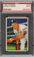 Baseball Cards:Singles (1950-1959), 1952 Bowman Mickey Harris #135 PSA NM 7....