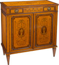 Furniture, An Edwards and Roberts Inlaid Satinwood Parlor Cabinet in the Adam Taste, early 20th century. Marks: EDWARDS & ROBERTS. ...