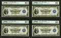 Fr. 723 $1 1918 Federal Reserve Bank Notes Cut Sheet of Four. ... (Total: 4 notes)