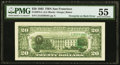 Third Printing on Back Error Fr. 2075-L $20 1985 Federal Reserve Note. PMG About Uncirculated 55