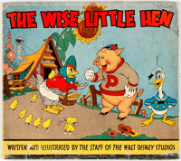 The Wise Little Hen Hardcover Picture Book (Whitman, 1935) Condition: Book VG/FN, Dust Jacket Apparent GD/VG