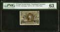 Fractional Currency:Second Issue, Fr. 1235 5¢ Second Issue PMG Choice Uncirculated 63.. ...