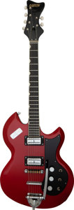 Musical Instruments:Electric Guitars, 1965 Gretsch Astro-Jet Red Solid Body Electric Guitar, Serial # 71579.. ...