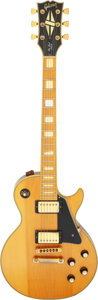 Musical Instruments:Electric Guitars, 1977 Gibson Les Paul Custom Natural Solid Body Electric Guitar, Serial # C925301....