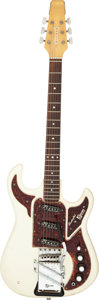 Musical Instruments:Electric Guitars, Circa 1965 Burns Marvin Range White Solid Body Electric Guitar, Serial # 20738.. ...
