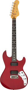 Musical Instruments:Electric Guitars, 1981 G & L F-100 Trans Red Solid Body Electric Guitar, Serial # G007718.. ...