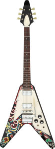 Musical Instruments:Electric Guitars, 2006 Gibson Jimi Hendrix Flying V Psychedelic Solid Body Electric Guitar, Serial # Jimi 249.. ...