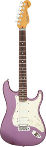 Musical Instruments:Electric Guitars, 1991 Fender Stratocaster Jeff Beck Signature Purple Solid Body Electric Guitar, Serial # N1016550.. ...