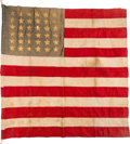 Military & Patriotic:Civil War, Civil War-Era Flag Owned by William Wilkins - Reportedly the Second Man to Enlist from Michigan.. ...