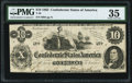 Confederate Notes:1862 Issues, T46 $10 1862 PF-1 Cr. 344 PMG Choice Very Fine 35.. ...