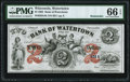 Obsoletes By State:Wisconsin, Watertown, WI- Bank of Watertown $2 Sep. 1, 1863 R...