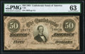 Confederate Notes:1864 Issues, T66 $50 1864 PF-2 Cr. 496 PMG Choice Uncirculated 63.. ...