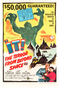 "It! The Terror from Beyond Space (United Artists, 1958). Folded One Sheet (27"" X 41"")"