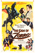 "Memorabilia:Disney, The Sign of Zorro (Buena Vista, 1960). One Sheet (27"" X 41""). Adventure...."