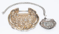 Two Chinese Lingzhi-Form Silver Boxes Marks: (various) 4 x 5 x 1 inches (10.2 x 12.7 x 2.5 cm) (larger) 6.84