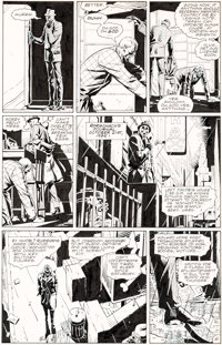 Dave Gibbons Watchmen #5 Story Page 6 Rorschach Original Art and Color Guide (DC, 1987).... (Total: 2 Original Art)