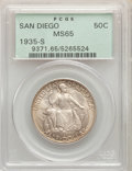 Commemorative Silver, 1935-S 50C San Diego MS65 PCGS. PCGS Population: (5929/1991). NGC Census: (2679/812). MS65. Mintage 70,132. ...