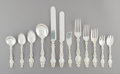 Silver & Vertu, A One Hundred and Thirty-Seven-Piece Assembled Whiting Mfg. Co. Lily Pattern Silver Flatware Service, Providence... (Total: 137 Items)
