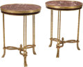 Furniture, A Pair of Neoclassical-Style Gilt Bronze Guéridons. 29 x 22 inches (73.7 x 55.9 cm) (each). ...