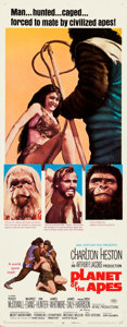 """Movie Posters:Science Fiction, Planet of the Apes (20th Century Fox, 1968). Rolled, Fine/Very Fine. Insert (14"""" X 36"""").. ..."""