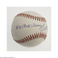 Autographs:Baseballs, Bill Terry & Ted Williams Signed Baseball....
