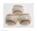 "Autographs:Baseballs, Tony Kubek ""AL ROY '57"" Single Signed Baseball Lot of 3...."