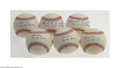 Autographs:Baseballs, New York Yankees Obscure Single Signed Baseball Lot (6)....