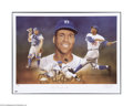 Autographs:Others, Roy Campanella Signed Lithograph....