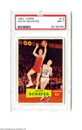 Basketball Cards:Singles (Pre-1970), Basketball 1957 Topps Dolph Schayes #13 PSA NM 7....