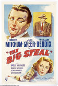 "Movie Posters:Film Noir, Big Steal (RKO, 1949). One Sheet (27"" X 41""). Robert Mitchum andthe beautiful Jane Greer teamed up again after their ""Out o..."