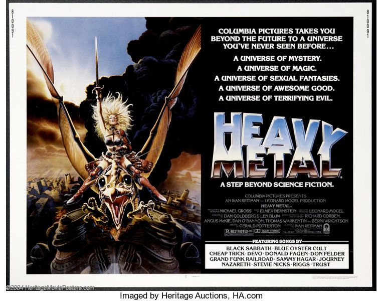 Heavy Metal Columbia 1981 Movie Posters Animated Lot 15099 Heritage Auctions