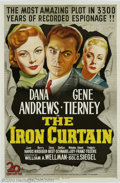 "Movie Posters:Film Noir, Iron Curtain (20th Century Fox, 1948). One Sheet (27"" X 41"").William Wellman directed this film-noir/anti-communist thrille..."