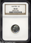 SMS Roosevelt Dimes: , 1965 SMS MS68 NGC. ...