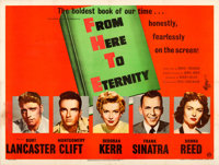 """From Here to Eternity (Columbia, 1953). Fine/Very Fine on Linen. British Quad (30"""" X 40""""). Academy Award Winne..."""