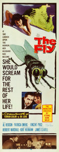 """Movie Posters:Science Fiction, The Fly (20th Century Fox, 1958). Fine/Very Fine on Paper. Insert (14"""" X 36"""").. ..."""