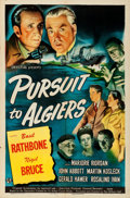 "Movie Posters:Mystery, Pursuit to Algiers (Universal, 1945). Folded, Very Fine-. One Sheet (27"" X 41"").. ..."